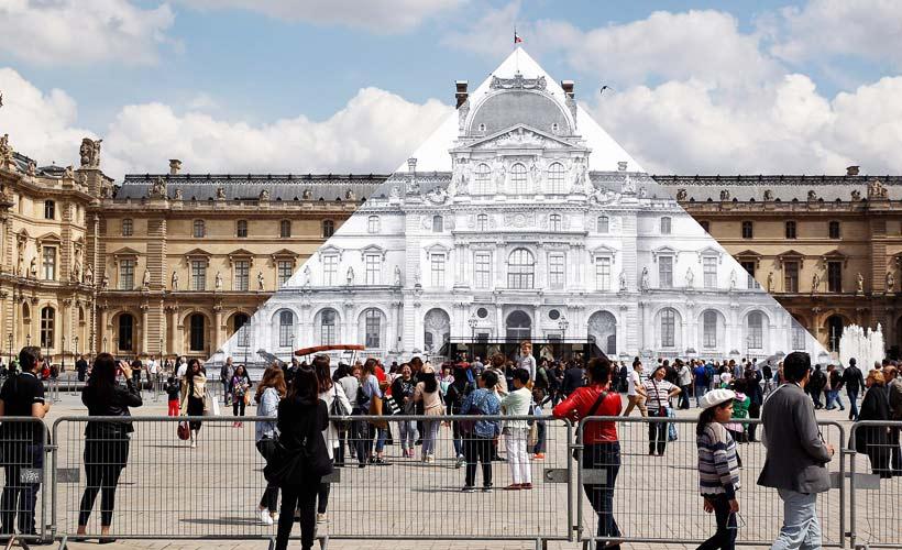 هرم موزه لوور ناپدید شد
