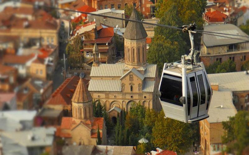 تلهکابین سواری در تفلیس