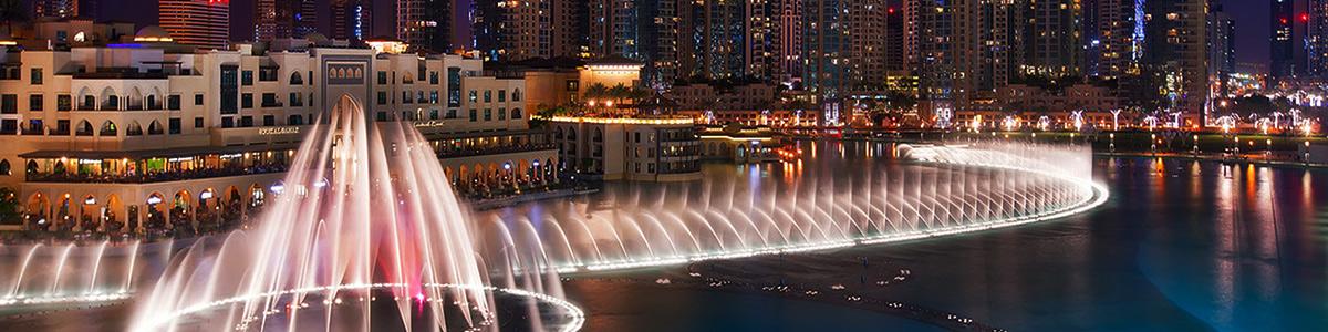 آب نمای زیبا و دیدنی در شهر رویایی دبی