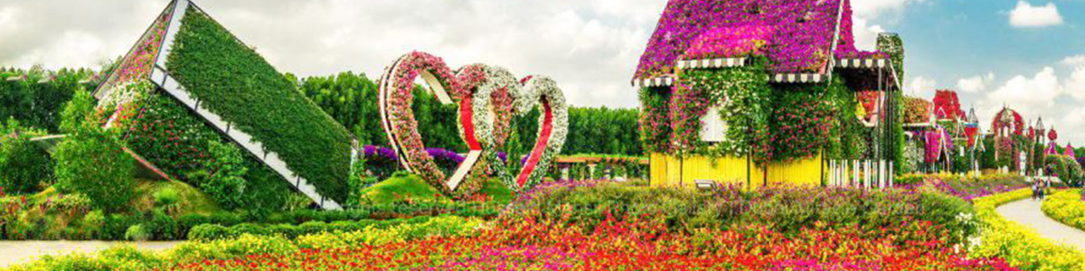 نمایی باشک.وه از باغ گل رز برن