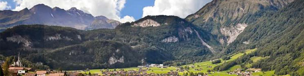 نمایی کوهستانی از سوئیس
