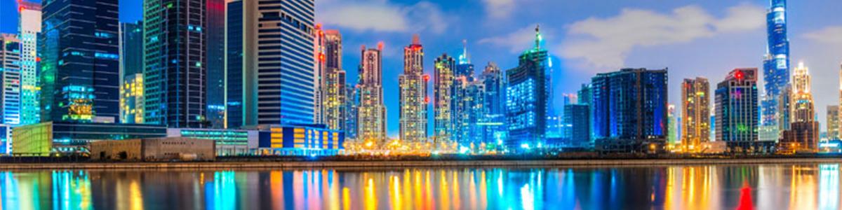 نمایی زیبا از شهر دبی