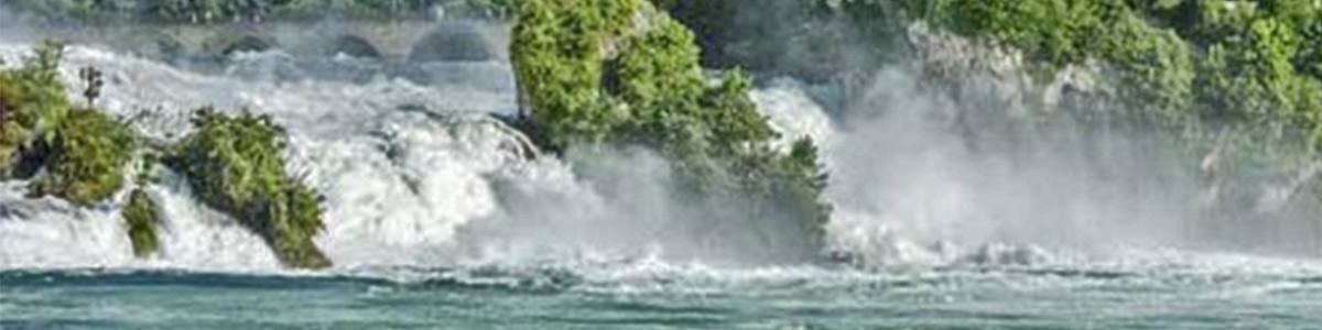 آبشار زیبای راین سوئیس