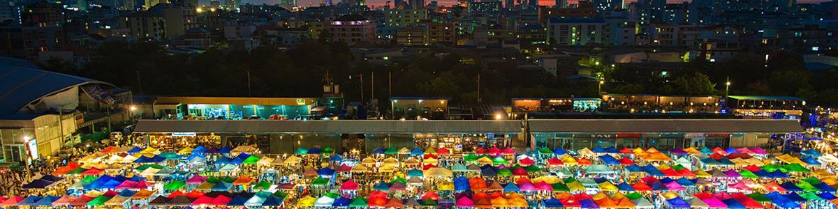 نمایی زیبا از شهر منحصر به فرد بانکوک