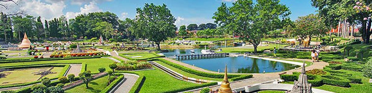 پارکی زیبا و دیدنی در شهر پاتایا