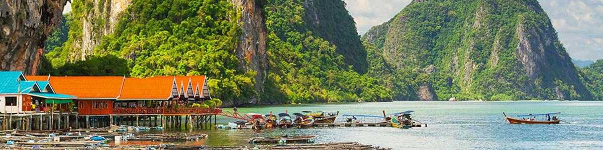 خلیج فانگ نا از جاذبه های منحصر به فرد در  تایلند
