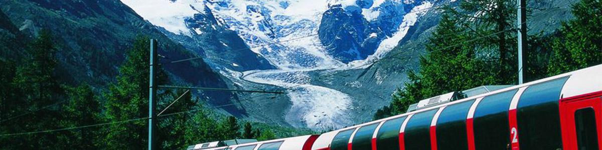برنینا اکسپرس در کشور رویایی سوئیس