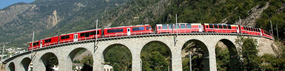 قطاری مفرح و جذاب در سوئیس