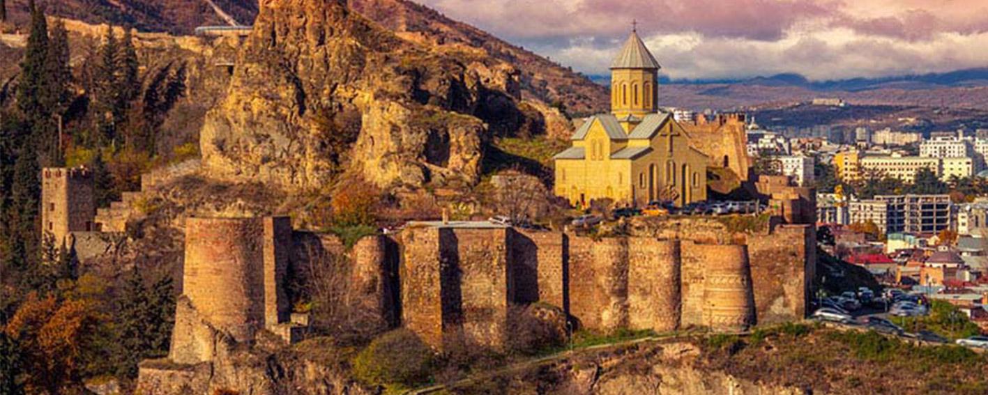 قلعه ای زیبا و دیدنی در شهر تفلیس