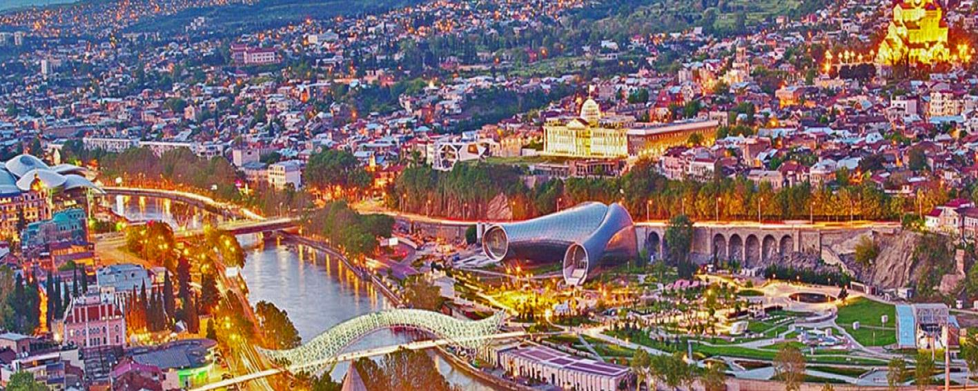 نمایی زیبا از شهرهای کشور گرجستان