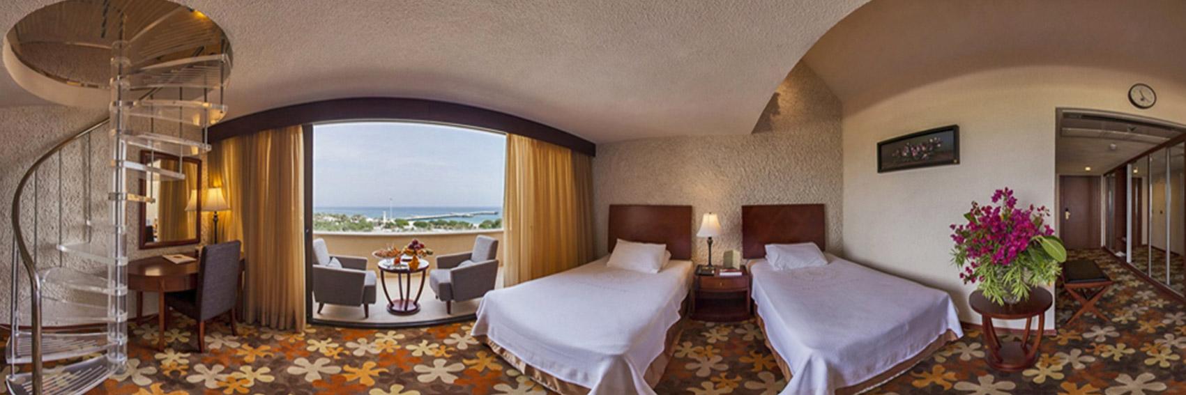اتاق های شیک در هتل شایان