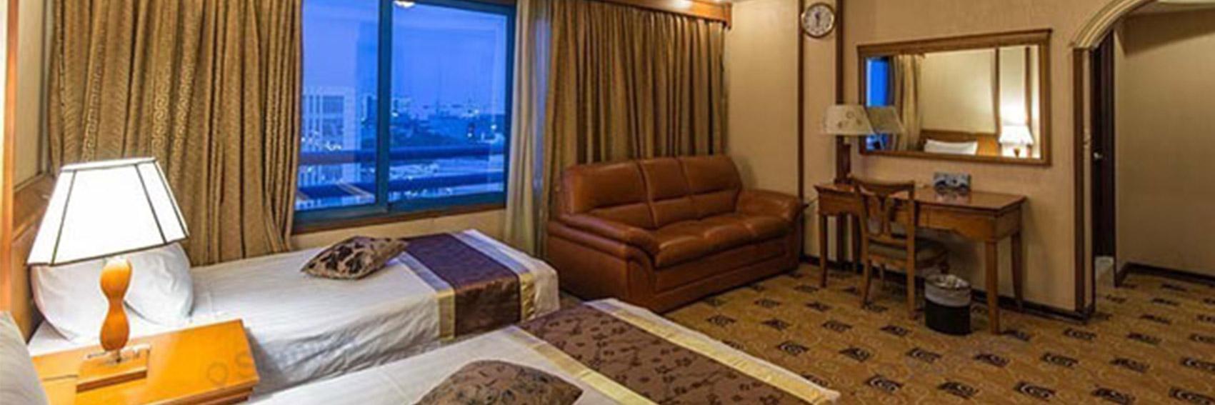 اتاق های شیک در هتل پارمیس
