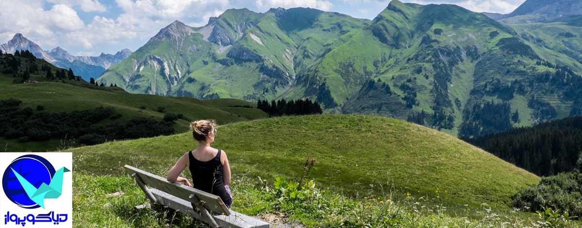 نماهای زیبای کوهستان های سرسبز اتریش